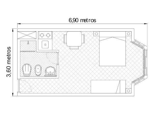 Cote dor apart hotel y departamentos for Hacer plano habitacion